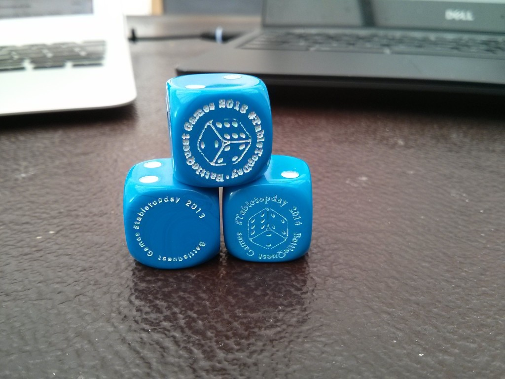 Custom Dice to Tabletop Day
